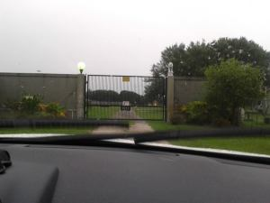 Baskin's back gate -where the donations went maybe