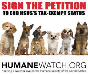 petition to end HSUS tax exemption