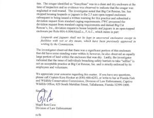 response letter BCR complaint 1c