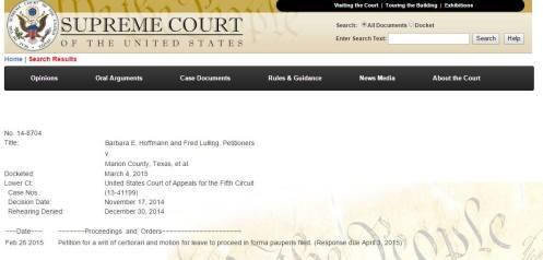 Supreme Court case filed