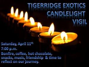 Candlelight vigil TIGER RIDGE