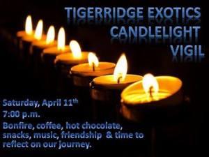 Candlelight vigil TIGER RIDGE