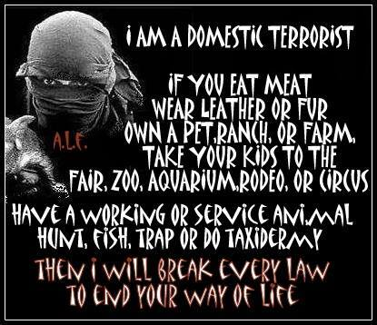 "a description of the animal liberation front on domestic terrorists Setting fires with electrical timers: an earth liberation front guide  of justice  calls ""a campaign of domestic terrorism in five western states  firearms and  explosives (atf) to fight terrorism—a definition that ran the gamut."